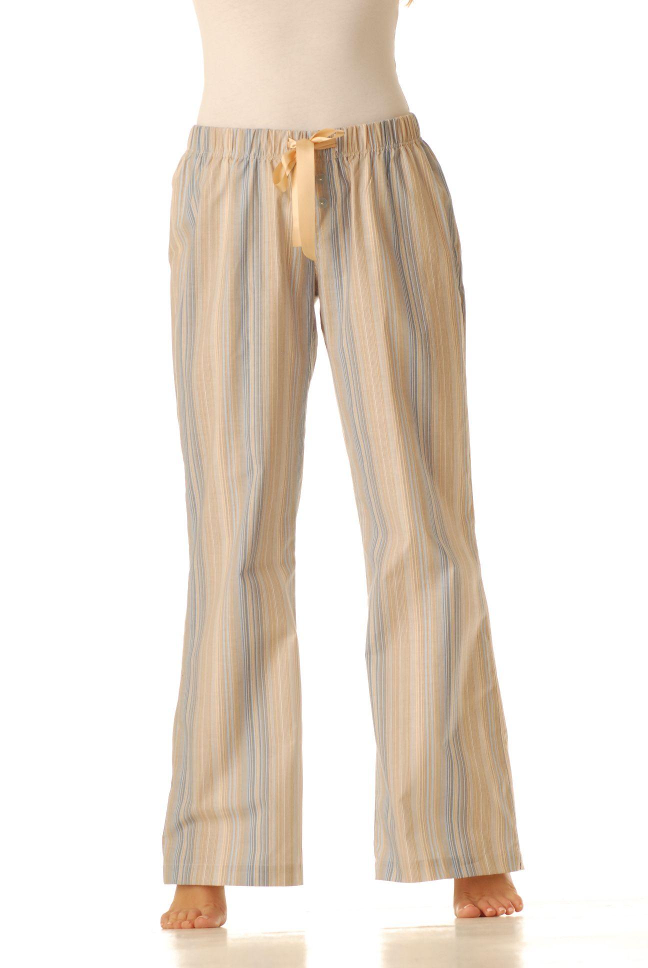 Pyžamové kalhoty - Stripe sv.modrý